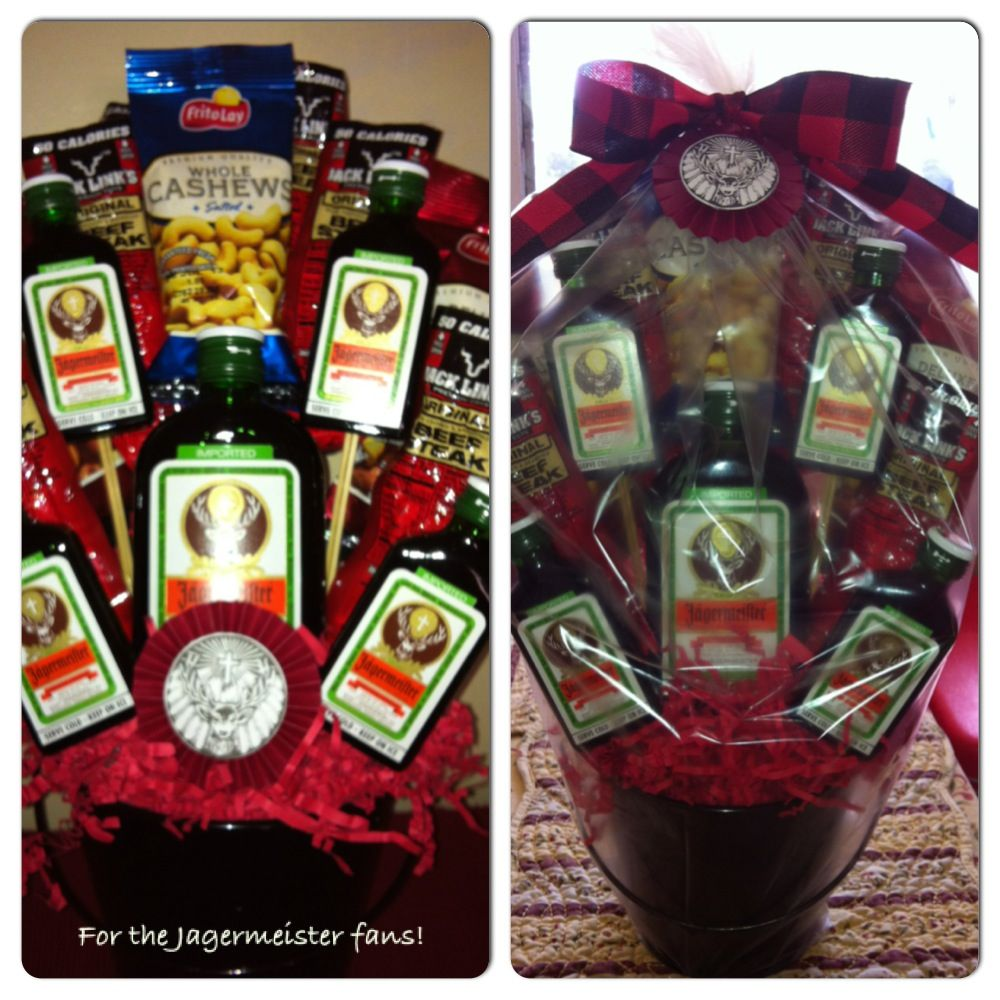 Made It Love It Mean It My Version Jagermeister Bro Quet For A Friends Happy Happy Happy Birthday Friend Birthday Diy Gifts Christmas Gifts