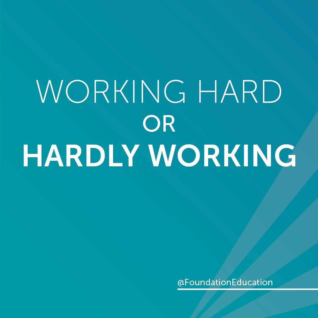 Working Hard Or Hardly Working Motivation Quote Motivational