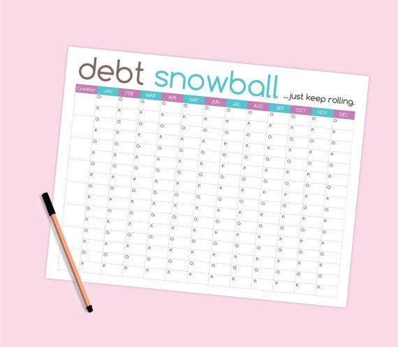 debt snowball worksheet