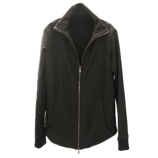 zero - Acrylic Coated Track Jacket - Black - 37,500JPY