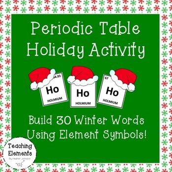 Periodic table christmas activity winter words brain breaks and periodic table christmas activity urtaz Images