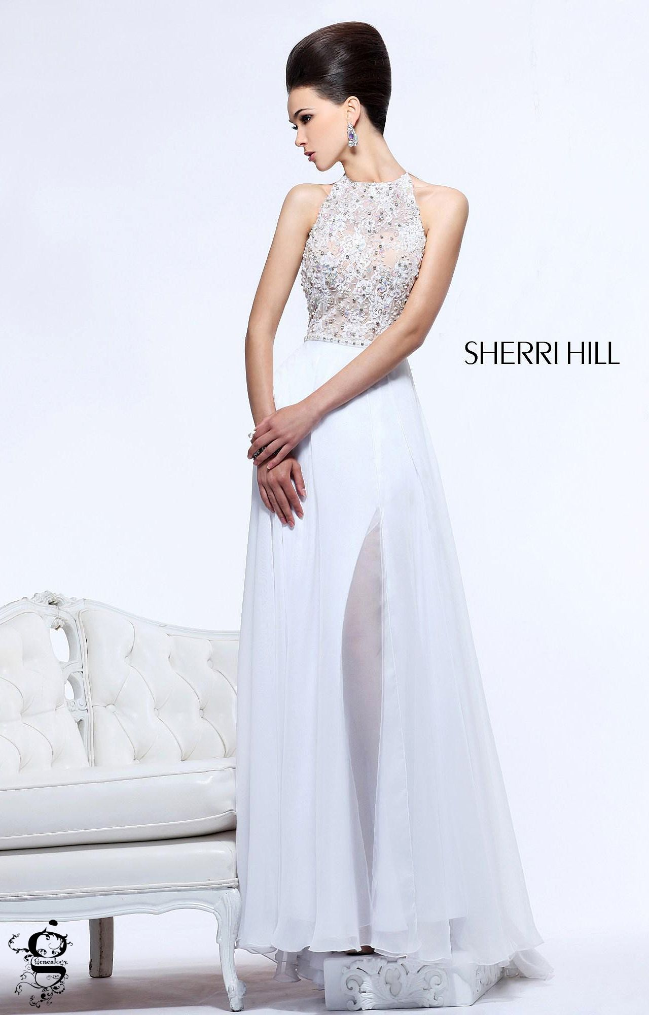 Sherri hill cover up pinterest prom slit prom dresses