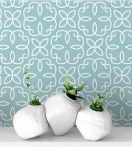 Papel de parede com flores minimalistas