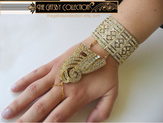 Oppulent Gatsby Art Deco Style Rhinestone by thegatsbycollection, $185.00