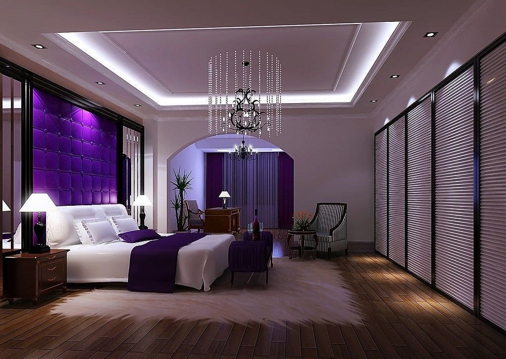 Purple Bedroom | Purple luxury bedroom | 3D house, Free 3D ...