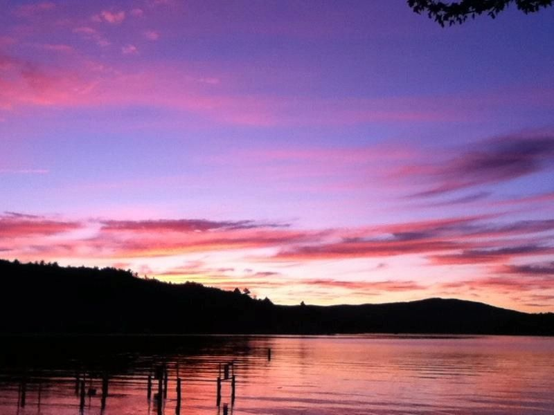 Newfound Lake (Bristol NH) along West Shore Drive, 7April
