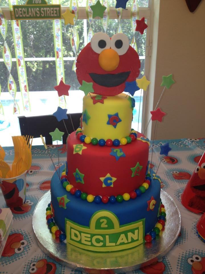 Declans 2nd Birthday ELMO cake o Fun Cakes FTW Pinterest