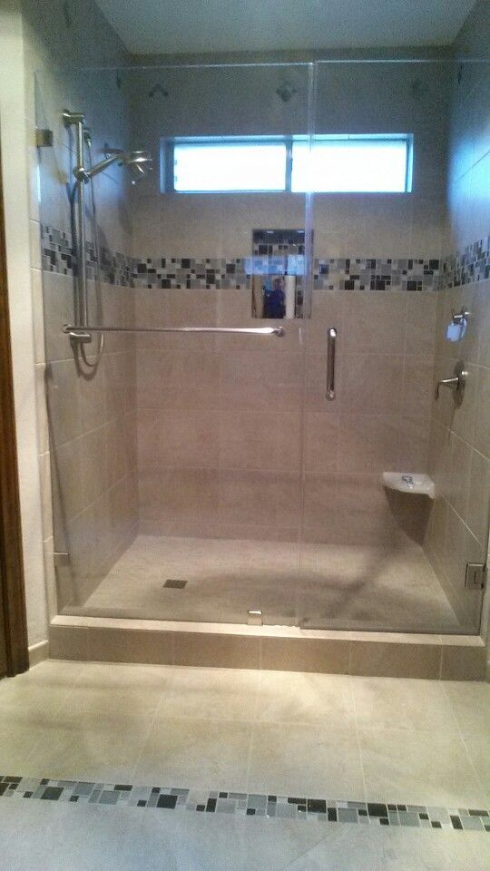 Finally Removed The Old Bathtub And Have A Big Shower With 2 Shower Heads.  One