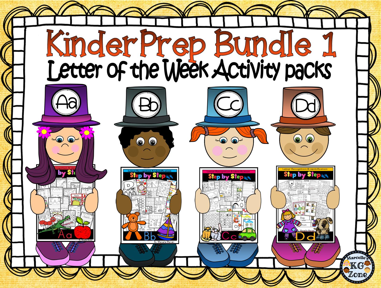 Alphabet Worksheets Letter Of The Week Mega Pack Bundle