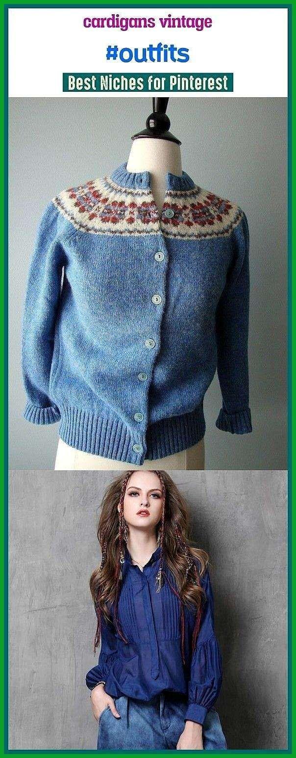 Photo of Cardigans vintage # antrekk #seo #boardideas #trending. Cardigan antrekk, kort …