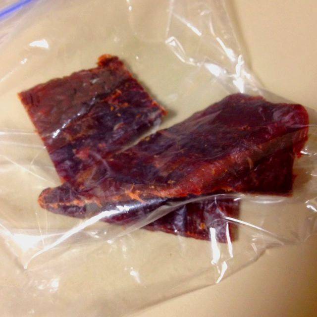Beef jerky, lunch of champions!