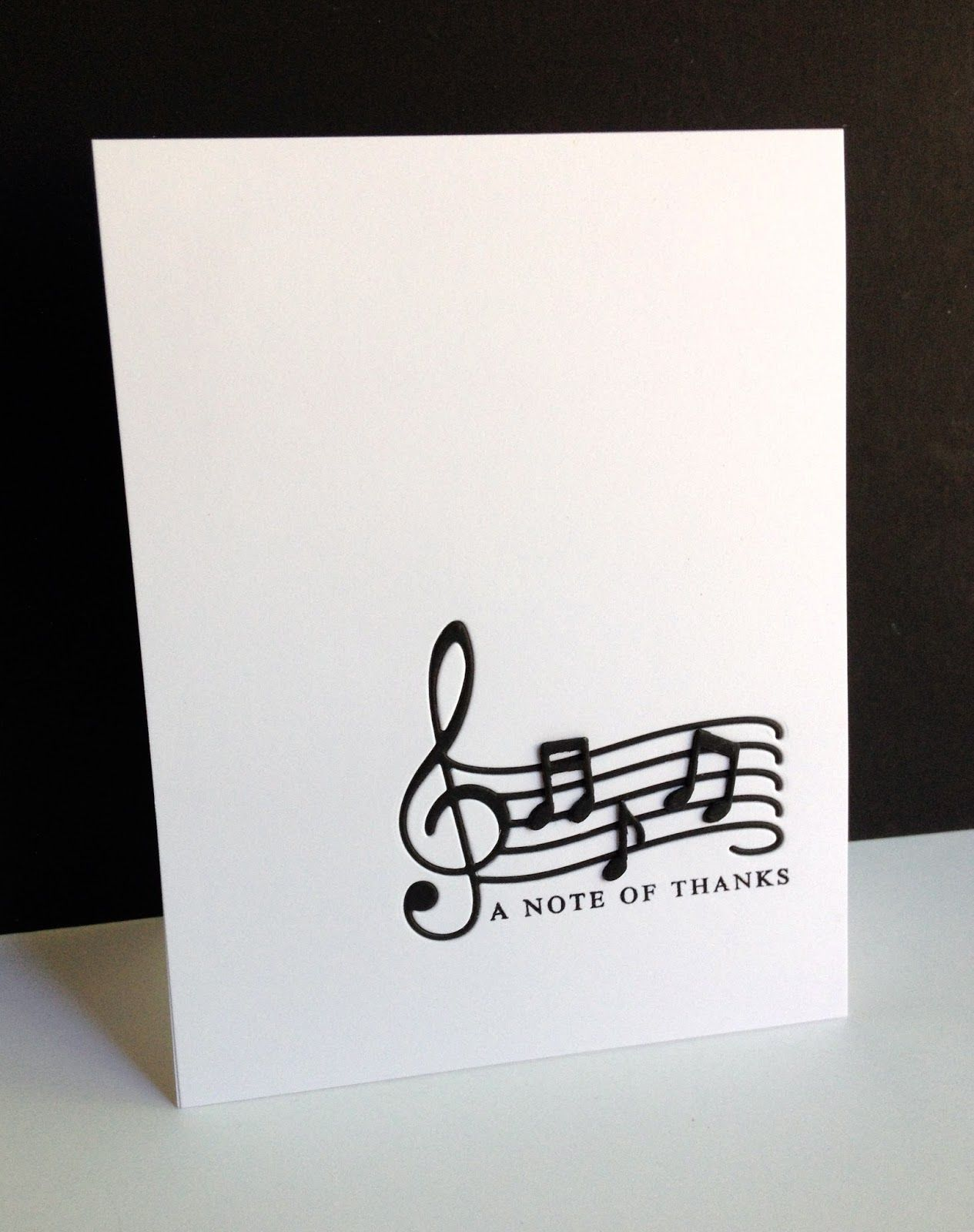 A Musical Note Of Thanks Musical Cards Musical Birthday Cards Inspirational Cards