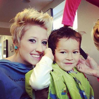 Katelin and Kiwa! Katelin's short, funky pixie and Kiwa's faux hawk! Hair by Duncan Edward- Progressive European Hair Design in Madison, WI. www.duncanedward.com #duncanedward #familybusiness #womenshair #pixie #boyshair