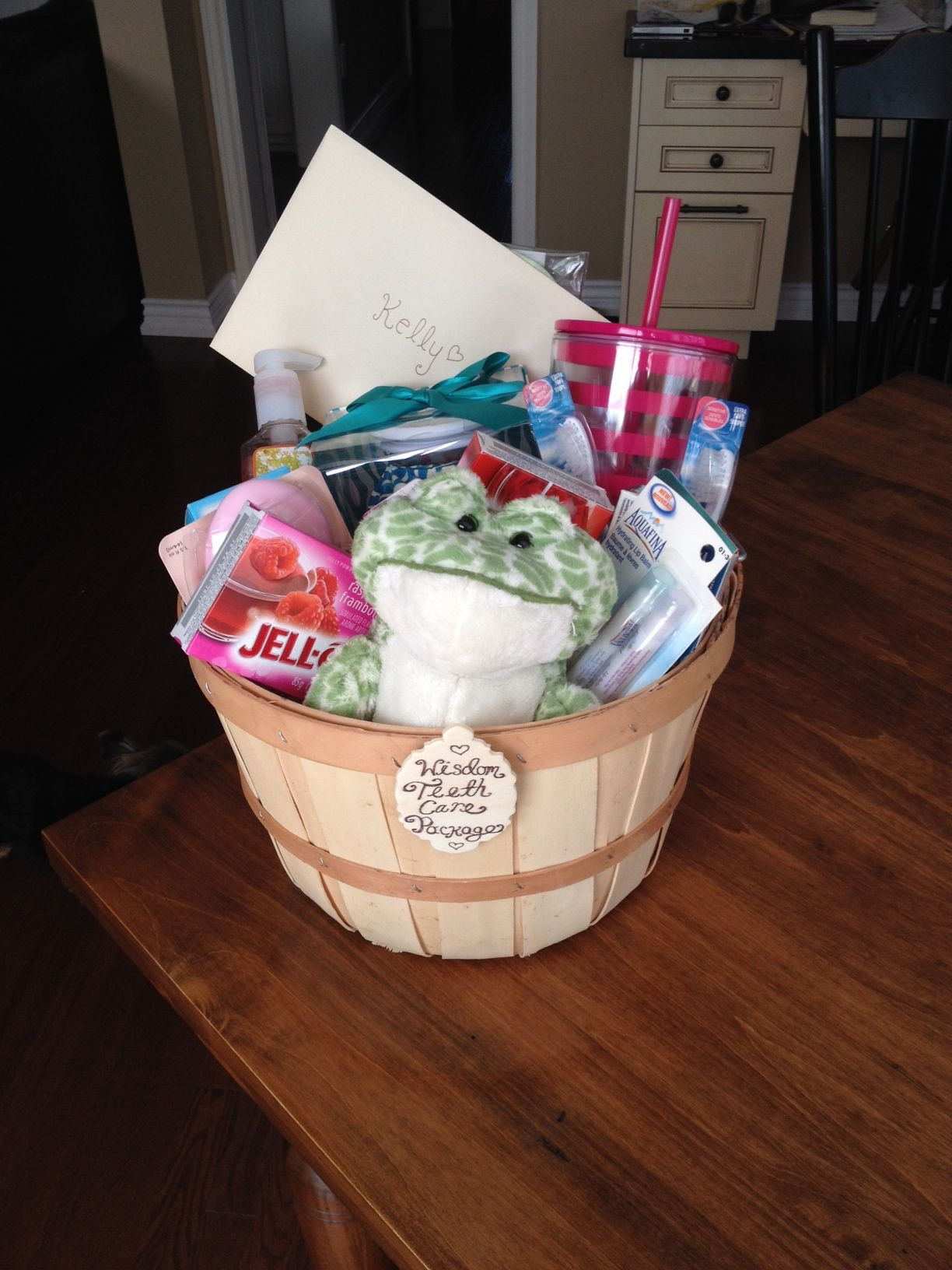 Adorable gift basket my friend made me when i got my