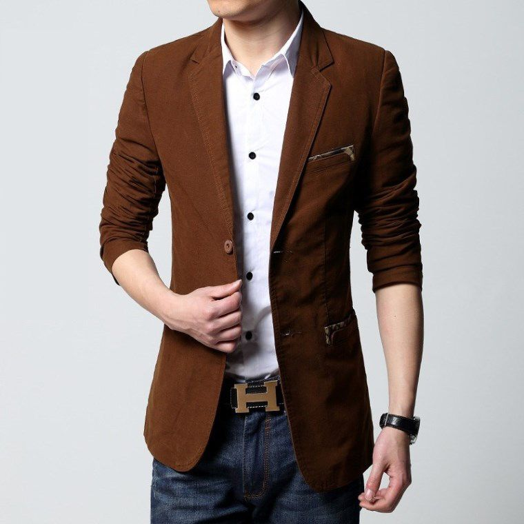Didiar Young men's clothing blazer mens slim male jack CABBEEN ...