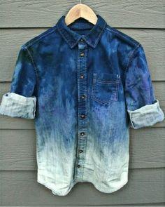 bleach denim shirt mens - Google Search