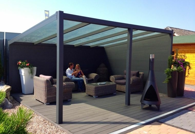 Pergolas de aluminio o madera 60 ideas modernas Terrazas