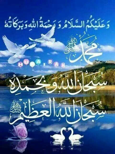 Tulisan Arab Salam : tulisan, salam, Waalaikumussalam, Islamic, Images,, Muslim, Greeting,, Posters