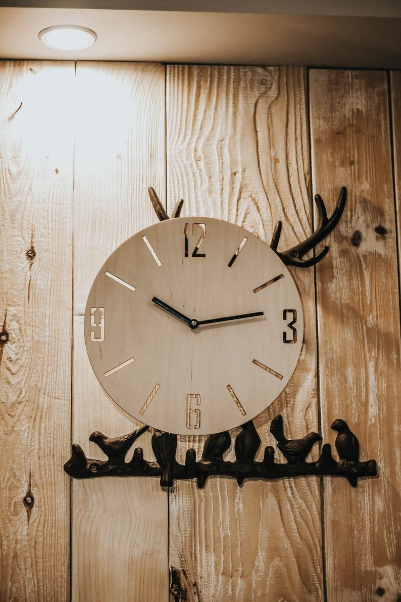 Wood Wall Clock House Warming Gifts White Wall Clock Silent Wall Clock Wooden Wall Clock Wooden Wall Decor Modern Wall Clock In 2020 Wood Wall Clock House Warming Gifts White Wall Clocks
