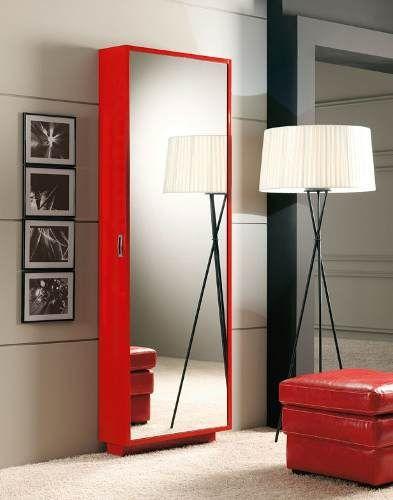 Zapatero puerta espejo el original 27 pares zebrano m for Espejo largo pared