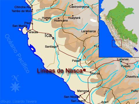 Lineas de Nasca | Lineas de nasca, Lineas de nazca, Mapa de ubicacion