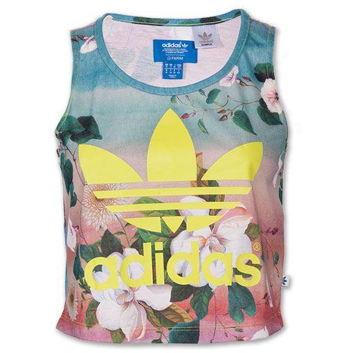 floral adidas tank top