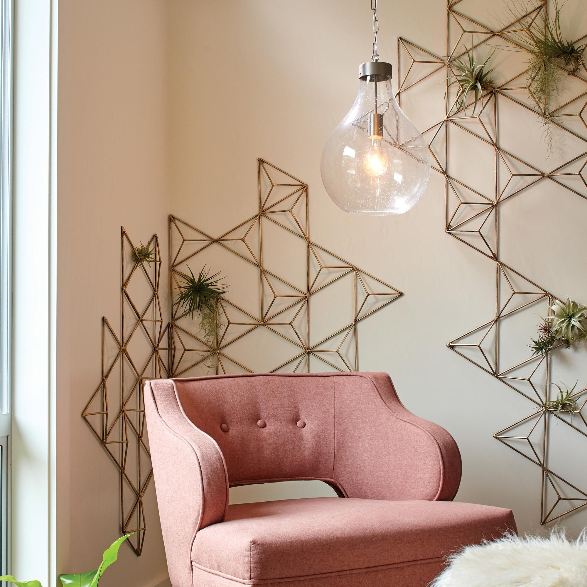 Handcrafted by indian artisans our threedimensional geometric wall