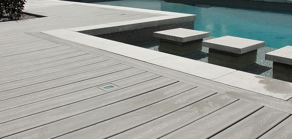 Composite Wood Pool Decking Montreal Outdoor Living Pool Deck Tile Wood Pool Deck Rectangular Pool