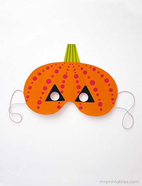cute and simple printable halloween masks for young kids - Pinterest Halloween Printables