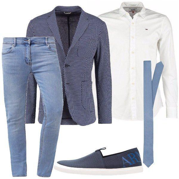 best service 78408 b6bf3 Cravatta e jeans: outfit uomo Everyday per ufficio e serata ...