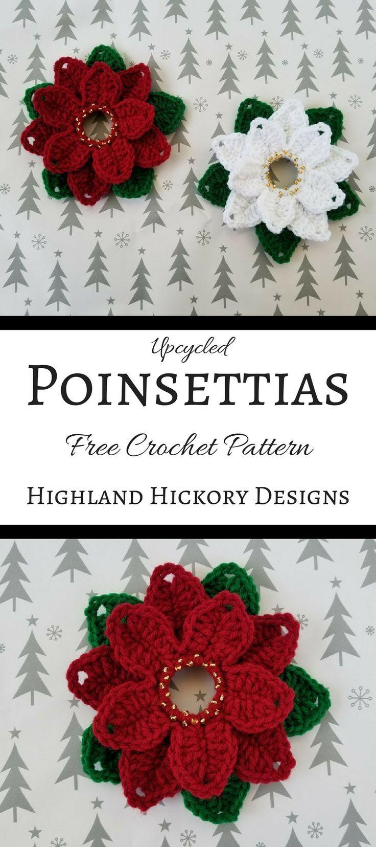 Upcycled Poinsettias | Navidad, Flores de papel y Carpeta