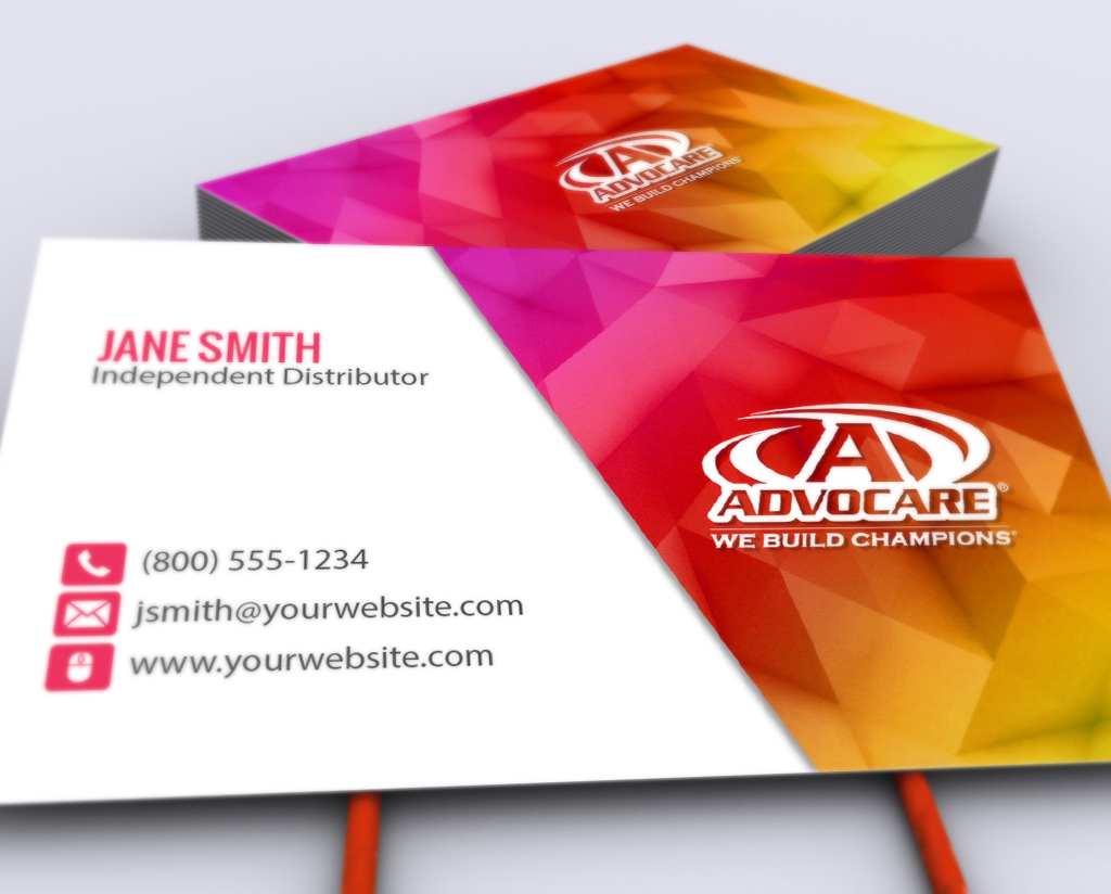 Our New Advocare Business Card Designs Are Up Now Mlm Advocare Print Paper Graphicdes Advocare Business Cards Business Card Template Free Business Cards