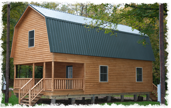 Steel gambrel barn kits hamilton cabins dream homes for Gambrel roof metal building