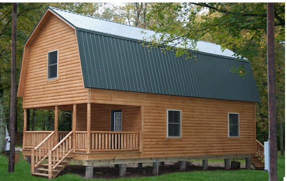 Steel gambrel barn kits hamilton cabins dream homes for Gambrel style steel building