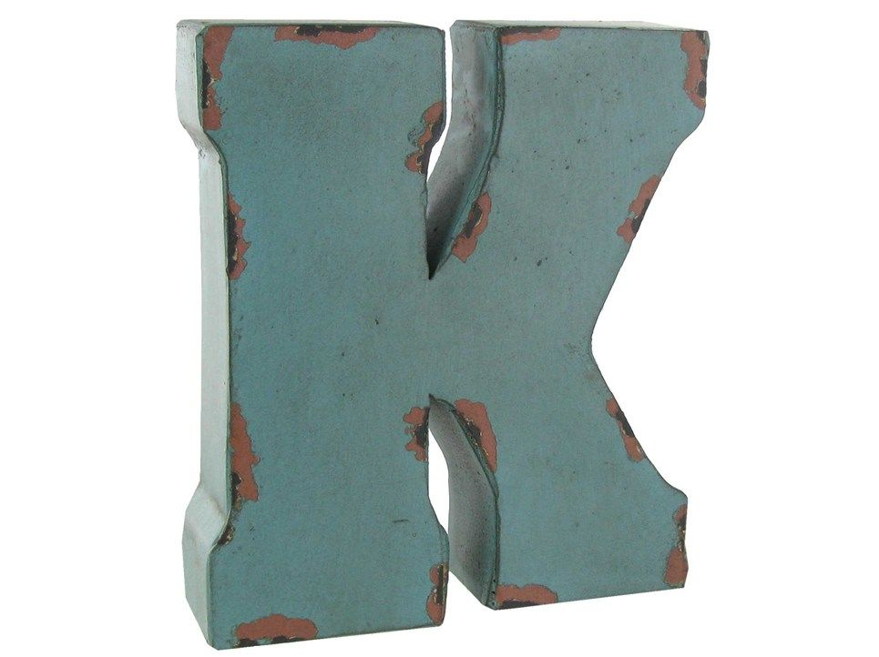 Large Metal Letter K Large Red Blue Or Brown Metal Letter  K  Decor  Walls