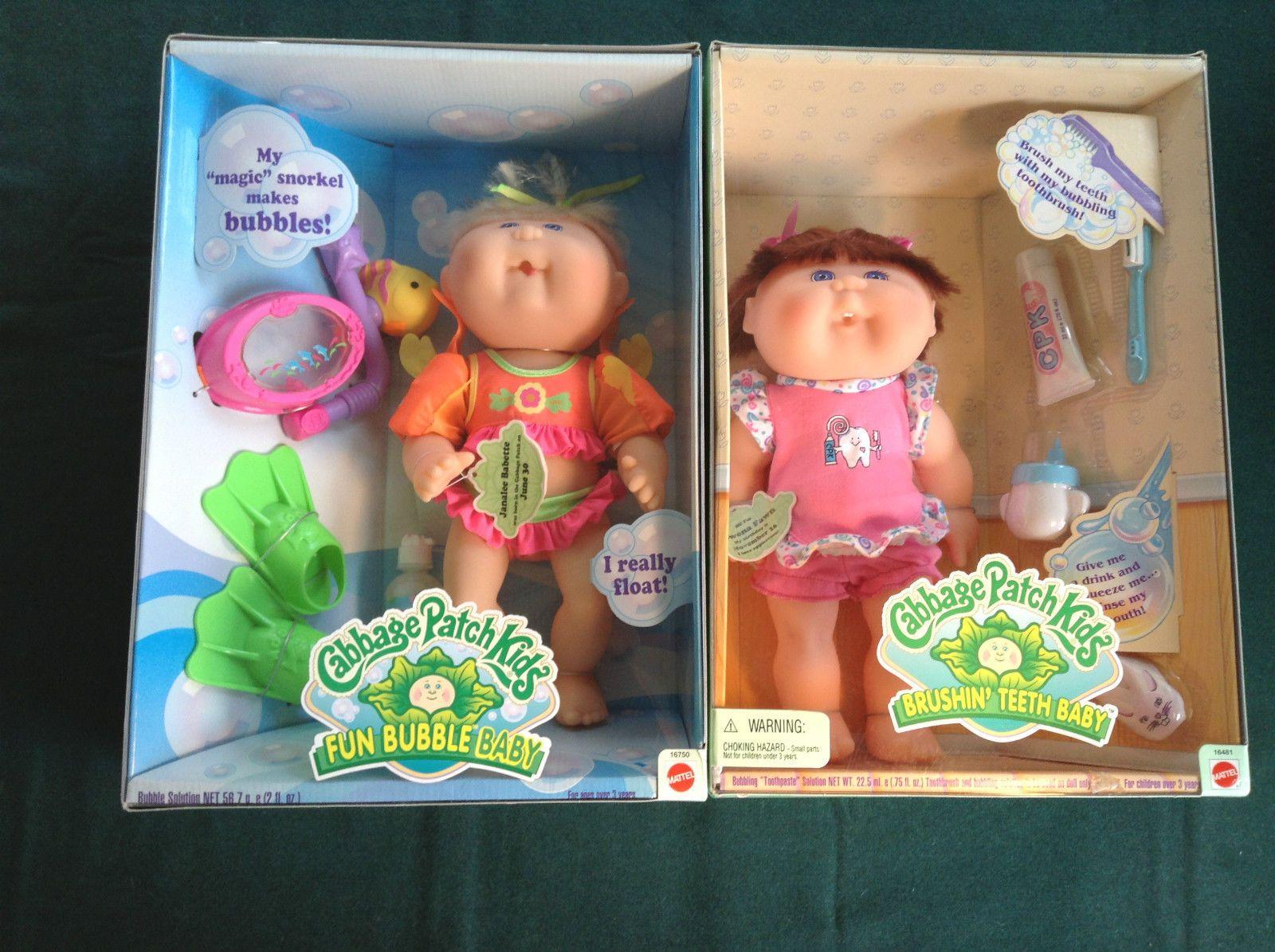 1997 Cabbage Patch Fun Bubble Baby Brushin Teeth Vinyl Bott Funko Pop Doraemon Full Body Dolls