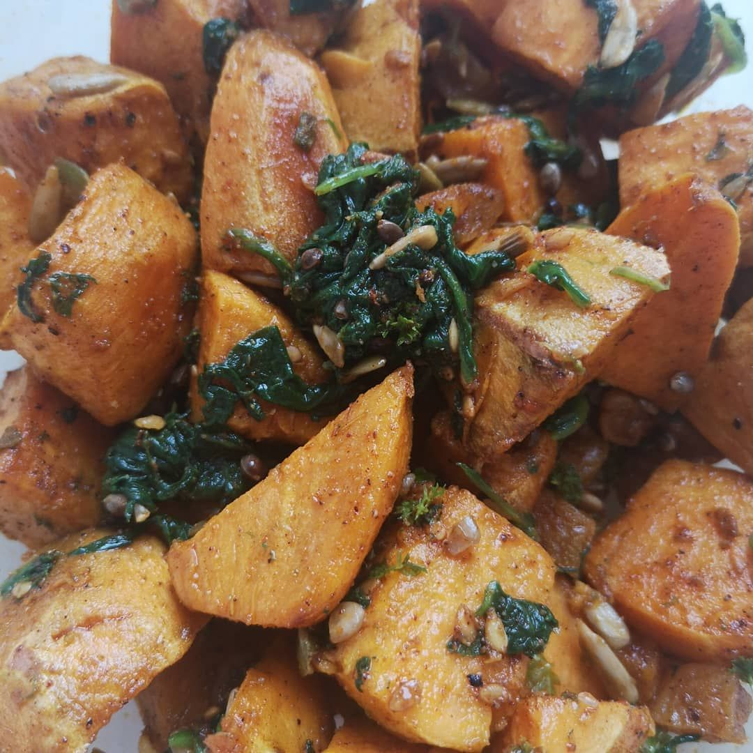 Spiced sweet potato salad. Delicious side dish