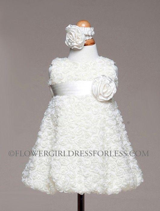 Girls Dress Style BC945-Sleeveless Chiffon Rolled Floral Dress $39.99