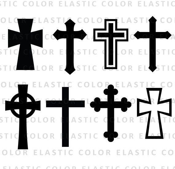 Cross Svg Silhouette Files Christian Svg Crosses Vector Etsy Cross Vector Cross Svg Cross Silhouette