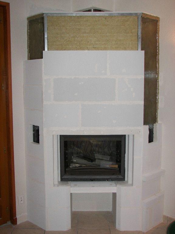 Habillage de la hotte chemin e foyer ferm habillage - Peinture pour hotte de cheminee ...