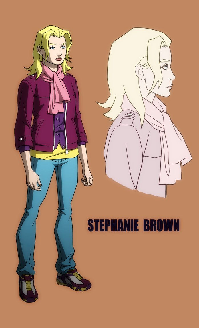 mr tawny yj dc animation young justice art and stephanie brown yj