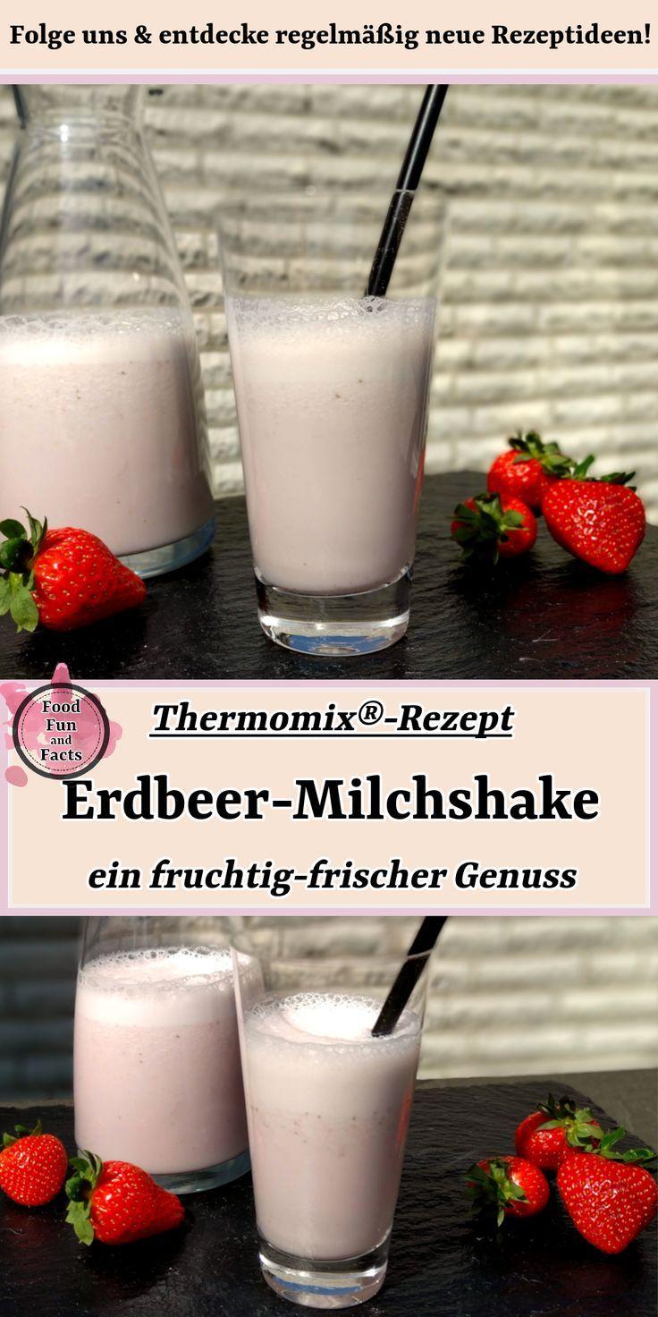 Fruchtig-frischer Erdbeer-Milchshake | Thermomix®-Rezept