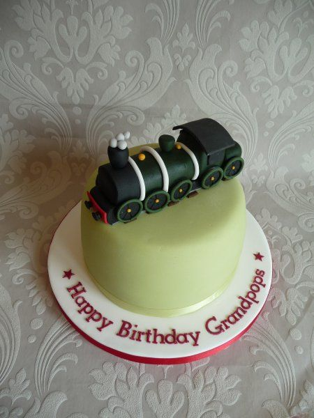 Steam Train 60th Birthday Cake For Men Vintage Parties Dad