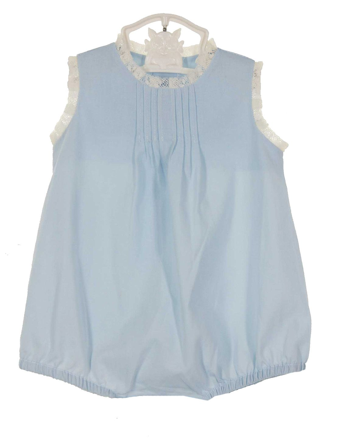 7ef6ba255463 NEW Remember Nguyen (Remember When) Blue Vintage Style Sleeveless Cotton  Romper with Ivory Lace