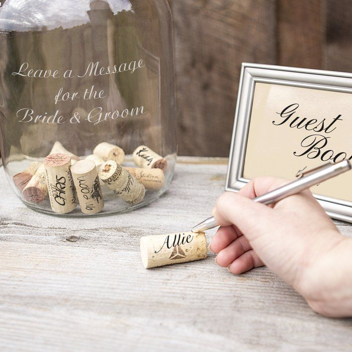 Wedding Punch Ideas: Wedding Wishes In A Bottle Guest Book