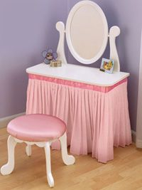 pretty vanity to play dress up Love it for my little ones
