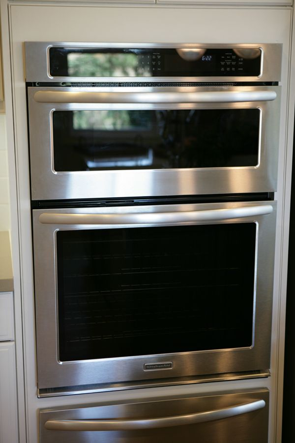 Kitchenaid architectural ii series built in microwave oven for Wall oven microwave combo cabinet