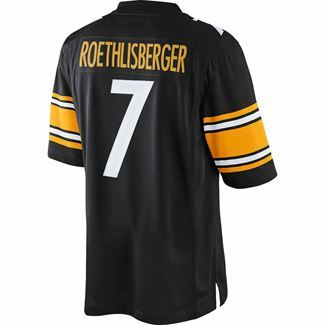 Show details for Pittsburgh Steelers Nike Ben Roethlisberger Limited Home Jersey