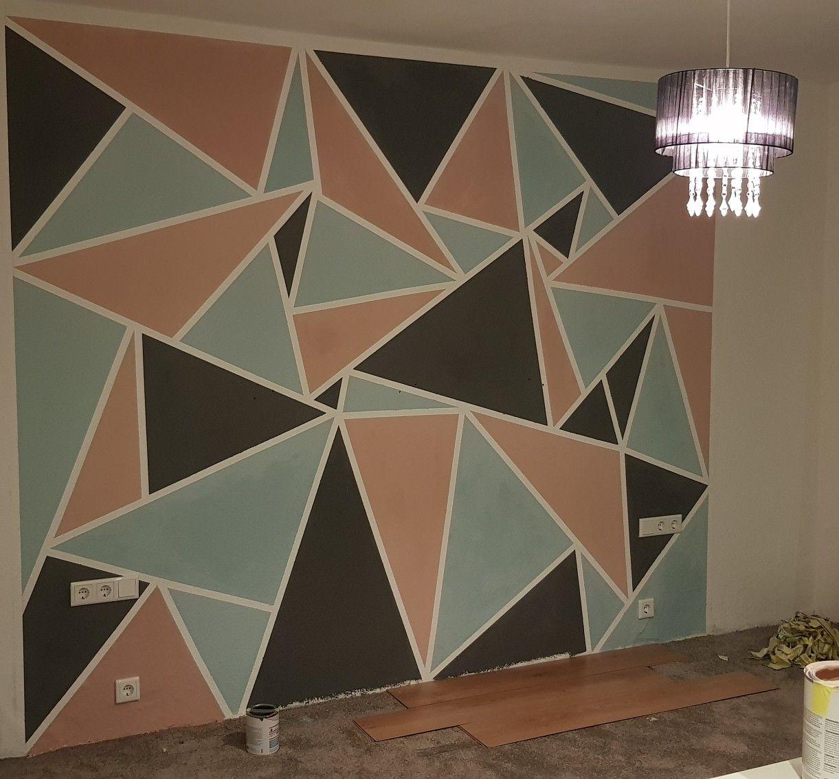 Wand Streichen Dreieck Wandgestaltung Dreiecke Wände Streichen Wandgestaltung Design