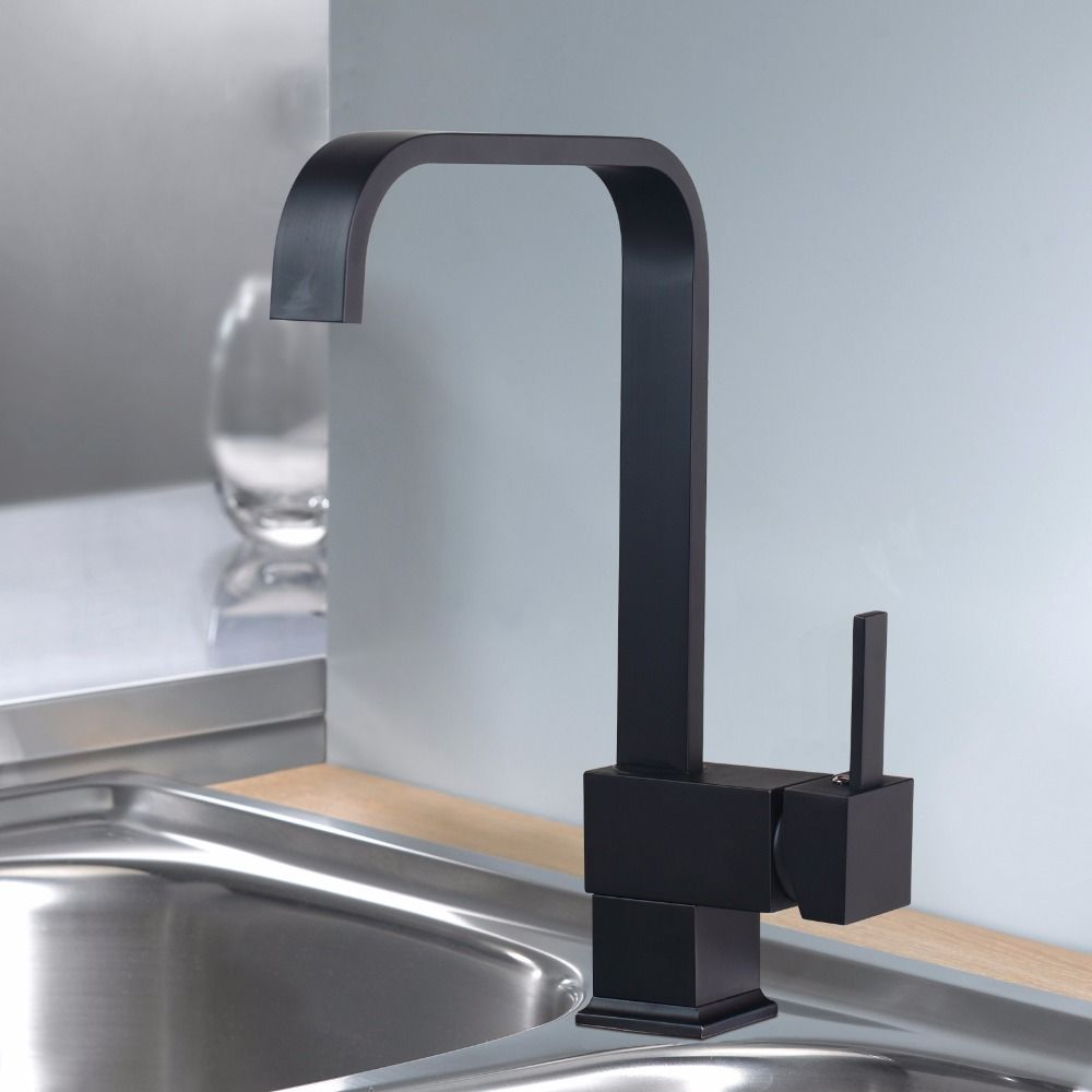 Black Oil Rubbed Bronze Faucet Bathroom Tap Sink Deck Mount Single